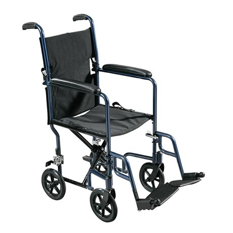 An Aluminium Folding Travel Wheelchair that folds easily for storage