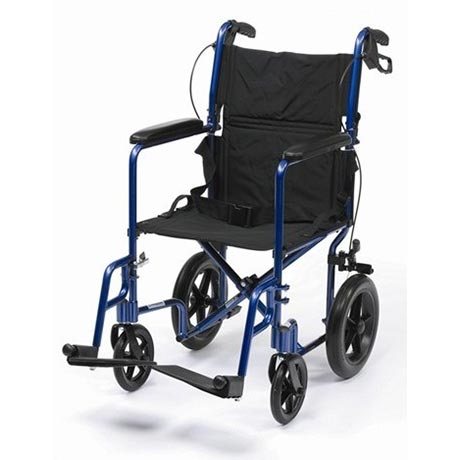An Aluminium Travel Chair Plus in Blue