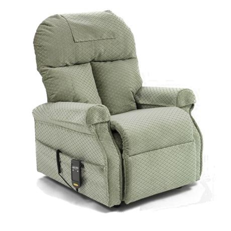 Boston rise and recline chair in green fabric