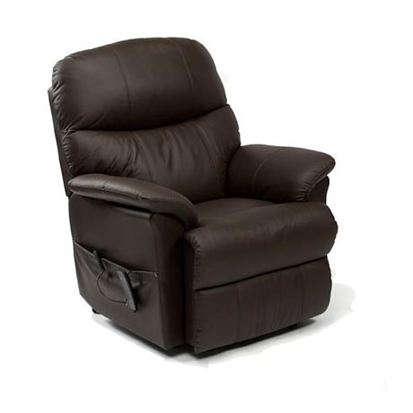 Lars Dual Motor Rise and Recline Chair in brown leather