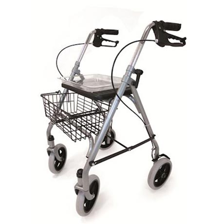 The Steel rollator shown from the side