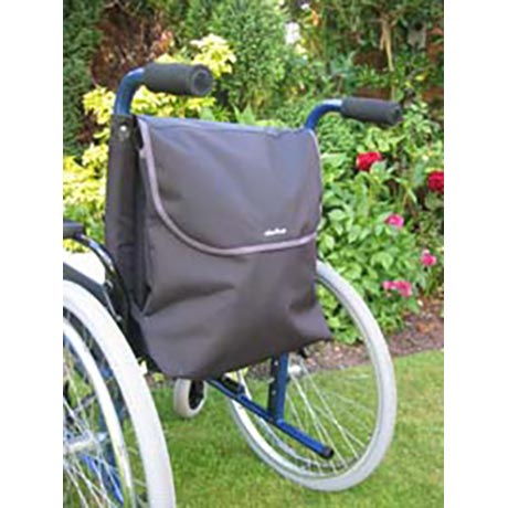 Medium sized wheelchair bag shown fitted onto a wheelchair
